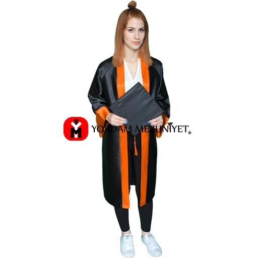 lise-turuncu-mezuniyet-kep-cubbe